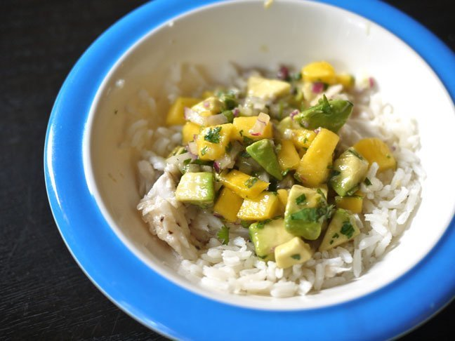 homemade mango and salsa for older babies